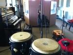 The studio set up